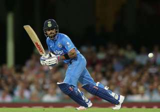 Virat Kohli of India playing a drive on the ON...