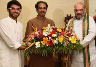 Amit Shah today met Uddhav Thackeray at Matoshree...