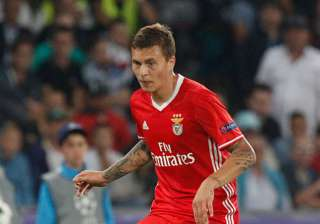 Victor Lindelof of Benfica during the UEFA...