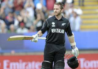 NZ captain Kane Willliamson celebrates after...