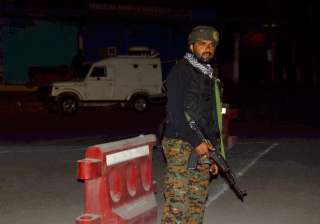 Security person stand guard after militants...