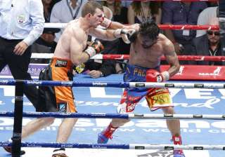 Manny Pacquiao lost his WBO welterweight world...