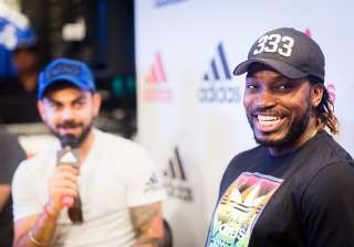 Chris Gayle at inaugural ceremony of a new store...