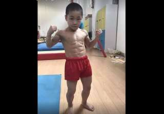 7 year old china boy with 8 pack abs - India TV