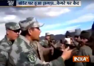 Verbal spat broke out between Indian and Chinese...