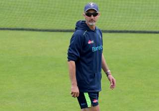Jason Gillespie keeps a watchful eye during the...