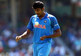 Jasprit Bumrah of India during the ICC Champions...