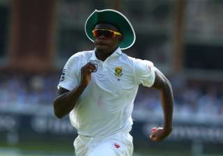 Kagiso Rabada of South Africa during 1st Investec...