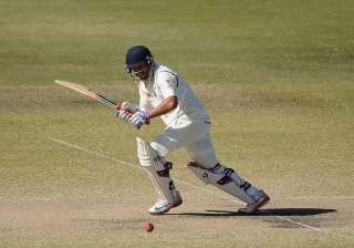 Karun Nair bats during the Quadrangular Series...