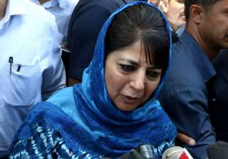 Jammu and Kashmir Chief Minister Mehbooba Mufti ...