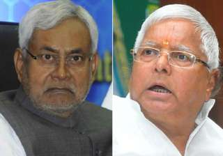 File pic of Nitish Kumar and Lalu Prasad Yadav -...