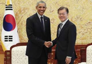 Obama meets S Korean Prez Moon Jae-in in Seoul -...