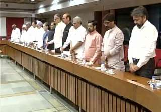Opposition leaders observed a two-minute silence...