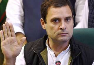 File pic of Congress vice-president Rahul Gandhi ...