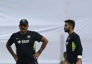 A file image of Ravi Shastri and Virat Kohli. -...