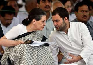 File pic of Sonia Gandhi and Rahul Gandhi -...