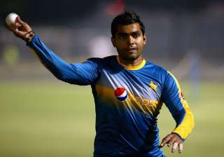 Umar Akmal of Pakistan in action during a net...
