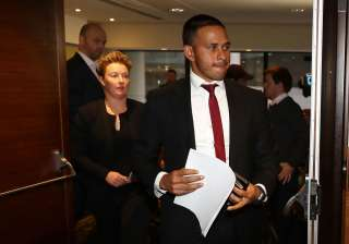 Usman Khawaja and Former cricketer Clea Smith...