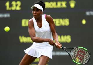 Venus Williams of the United States plays a...