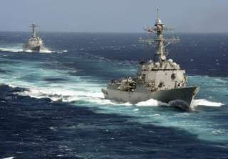 As tensions heighten, Chinese warships slink in...