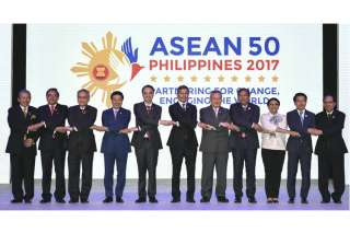 ASEAN Foreign Ministers at the opening ceremony...