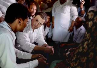 Rahul Gandhi during his visit to Gorakhpur on...