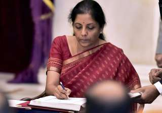 Sitharaman takes charge as India's first...