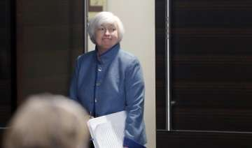 Federal Reserve Board Chair Janet Yellen arrives...