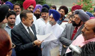 Jitendra Singh with West Pakistan refugees