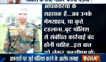 Army jawaan alleges harssment - India TV