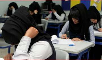 Hijab wearing female students in Pakistan