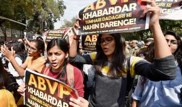 Students took out a march on Tuesday against ABVP...