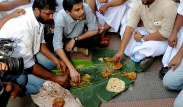 Youth Congress workers at a beef Festival in...