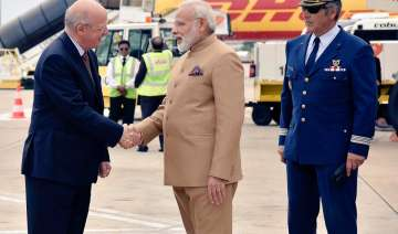 PM Modi arrives in Portugal on first leg of...
