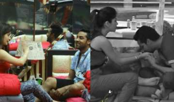 Bandgi Kalra and Puneesh Sharma in Bigg Boss 11 -...