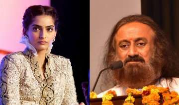 Sonam Kapoor and Sri Sri Ravi Shankar - India TV
