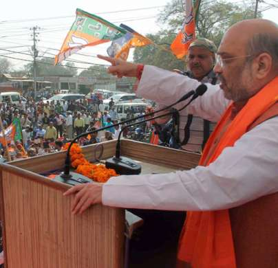 BJP President Amit Shah addressing during an election- India Tv