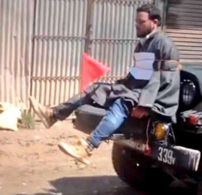 Major who tied Kashmiri man to jeep's bonnet awarded for- India Tv