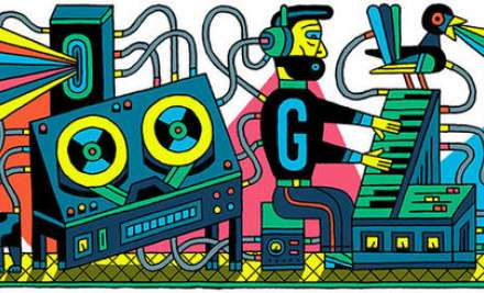 Google doodle of Studio for Electronic Music