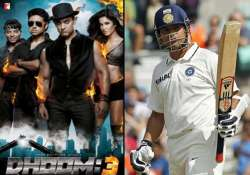 double bonanza sachin s last match along with dhoom 3 title