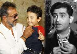 sanjay dutt s son to feature in remix of raj kapoor s song