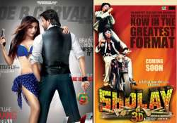 sholay 3d box office collection rs 3.75 cr in two days