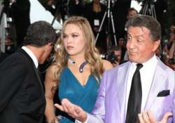 sylvester stallone supported ronda rousey through