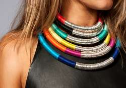 get noticed with bright colourful jewellery