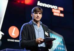 ashton kutcher plays jobs in real life designs tablet