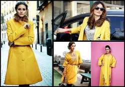add bright yellow in your winter wardrobe