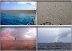 amazing pics as a new island is created in south pacific