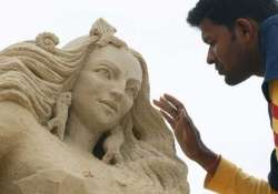 odisha artist makes konark temple sand sculpture in london