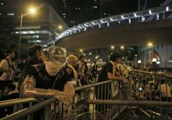 protesters spend peaceful night in hong kong