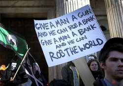 occupy london activists stage st paul s protest